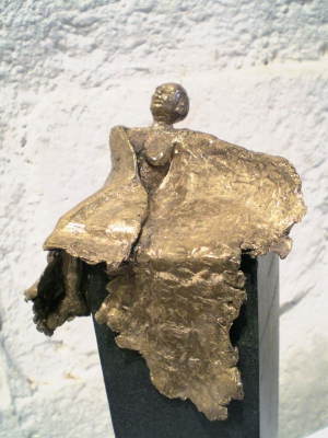 Angel Disappointed Bronze, basalte