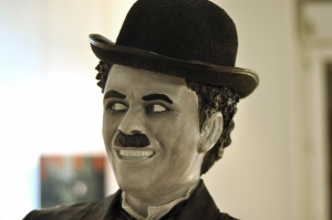 Charlie Chaplin Fabric, resin, steel