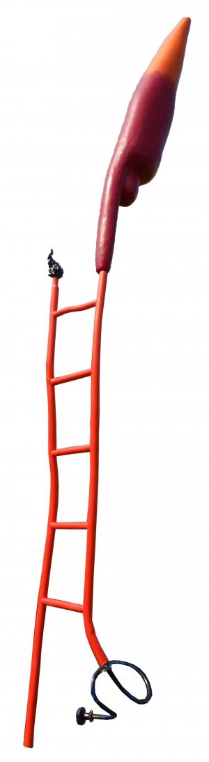 «Cirque» Équilibriste Polyuréthane, résine, acier