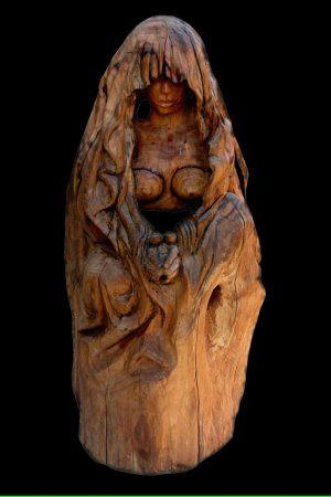Femme Pieuse Bois d'olivier