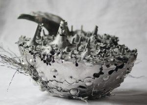 «Corps froissé» ÉSphère Bronze, aluminium